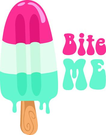 Go retro with this ice stick.  Perfect for your next design. Stock Illustratie