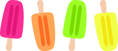 Go retro with this Popsicle.  Perfect for your next design.