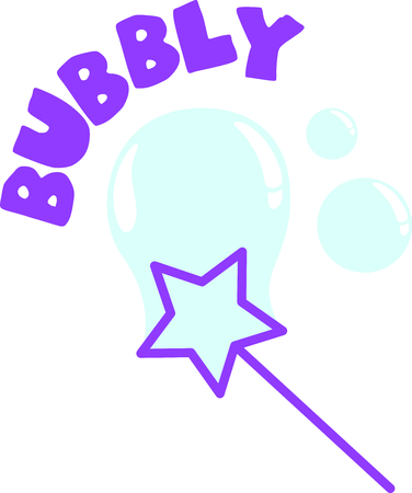 Use this image of a bubble wand in your next design. Ilustração