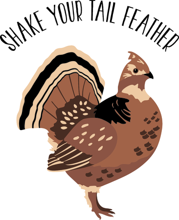 grouse: Use this image of a Grouse in your next design. Illustration