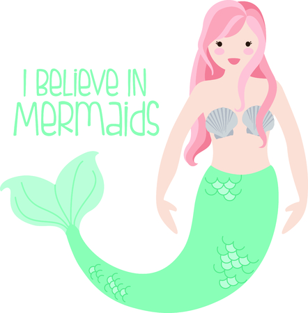 Use this image of a mermaid in your next design.