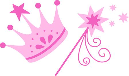Krijg deze prinses kroon en toverstokje te geven aan een meisje voor haar verjaardag.