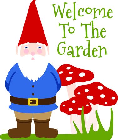garden gnome: Use this image of a garden Gnome in your next spring design.