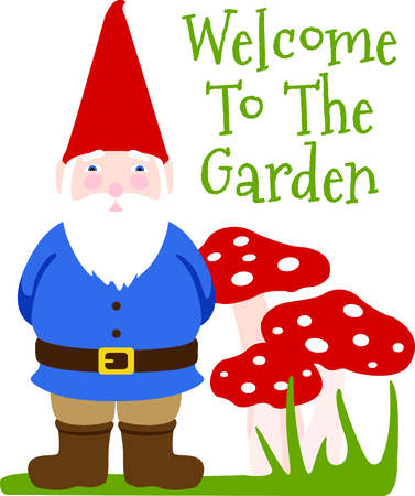 nain de jardin: Utilisez cette image d'un nain de jardin dans votre prochaine conception de ressort.
