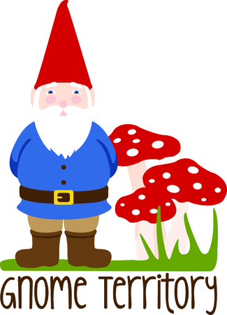 Use this image of a garden Gnome in your next spring design.