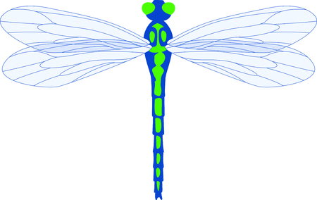 Use this image of a garden dragonfly in your next spring design.