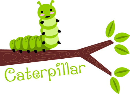 Use this image of a cute caterpillar in your next spring design.