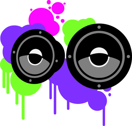 colorfully: Our colorfully decorated speakers on your DJ or party gear make a great combination.  Feel the noise!