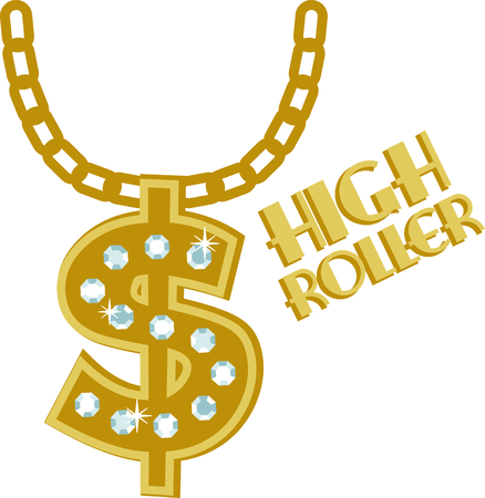 diamond necklace: Our  shaped, diamond encrusted pendant necklace is just the right hip hop accessory.  Stitch it on your jackets and shirts for that special look. Illustration