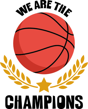 wiedererkennen: Recognize your basketball champions with this classy basketball complimented with a laurel.