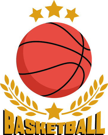 recognize: Recognize your basketball champions with this classy basketball complimented with a laurel.