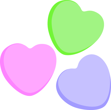 Share your candy hearts with this Valentines design. Ilustrace