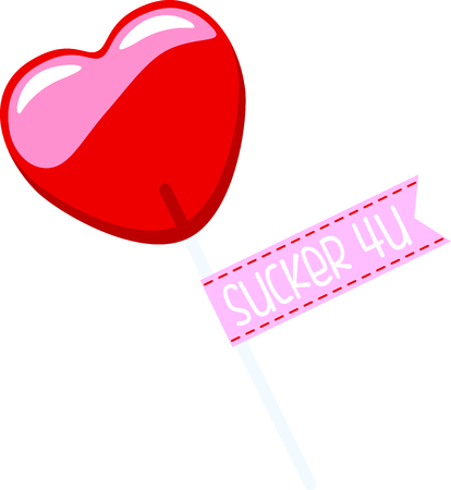 Share your love with this Valentines lollipop design.