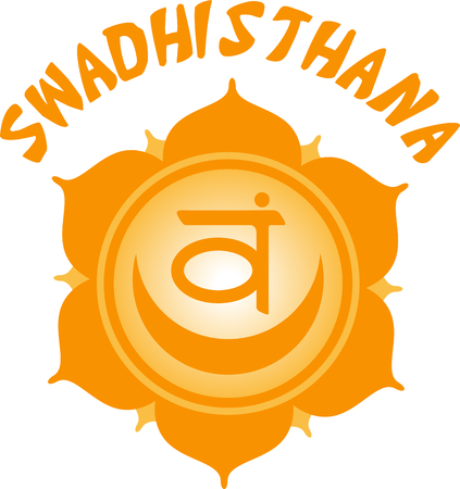 swadhisthana: Use this blank caption circle for Eastern religious sayings and symbols.
