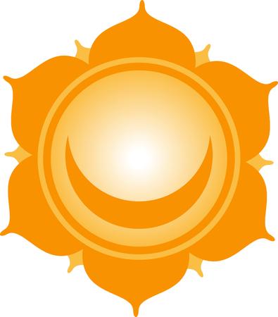 swadhisthana: Utilice este c�rculo subt�tulo en blanco para dichos y s�mbolos religiosos de Oriente. Vectores