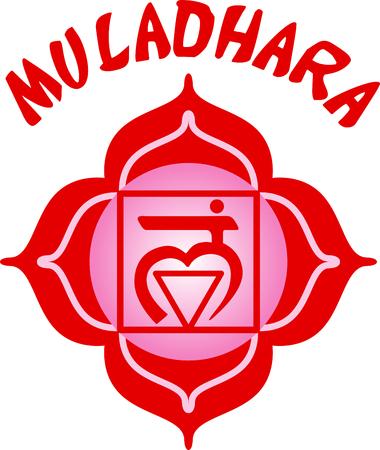 Chakra square for Hindu religious sayings and symbols. Illustration