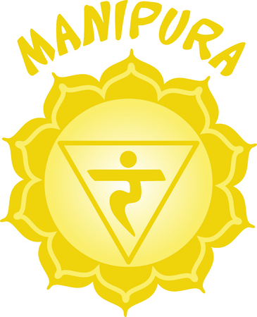 manipura: Chakra triangle for Hindu religious sayings and symbols.