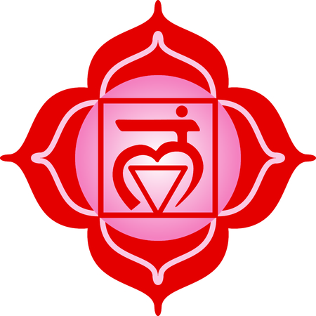 eastern culture: Chakra square for Hindu religious sayings and symbols. Illustration