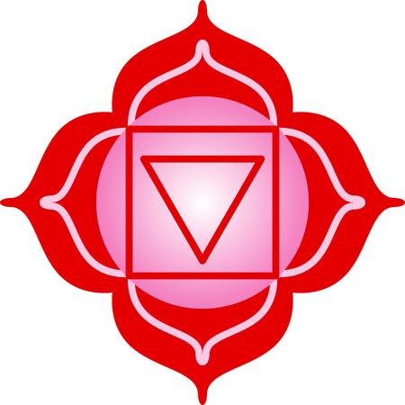 Chakra square for Hindu religious sayings and symbols. Illusztráció