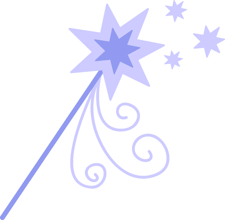 royal person: Get this princess wand to give to a little girl for her birthday. Illustration