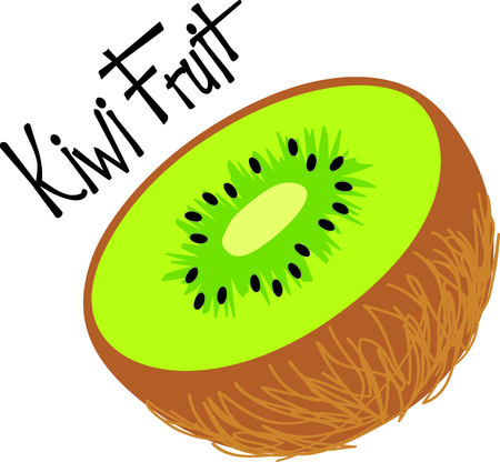 One half of green kiwifruit.