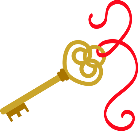 Unlock your creative genius when you explore all the places you can stitch this fancy gold key.