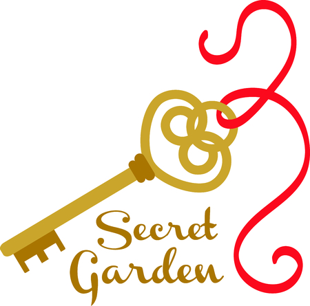 gold key: Unlock your creative genius when you explore all the places you can stitch this fancy gold key.