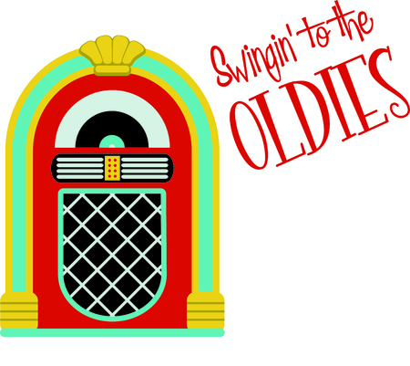 Share your love for classic music with this retro jukebox design.