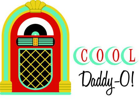 oldies: Share your love for classic music with this retro jukebox design.