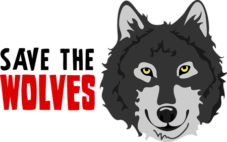 canis: Show your team spirit with this wolf logo.  Everyone will love it! Illustration
