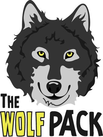 이 늑대 로고와 팀 정신을 보여줍니다. 모두가 그것을 사랑합니다!