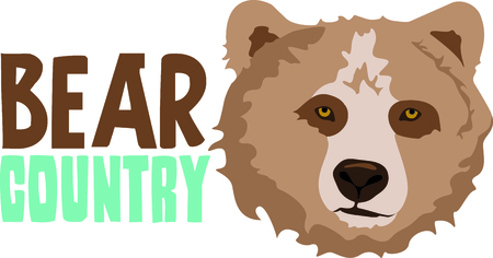 cubby: Show your team spirit with this bear logo.  Everyone will love it!