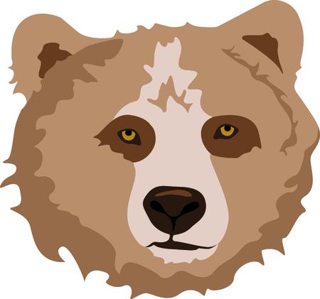 Toon uw teamgeest met deze beer Stock Illustratie