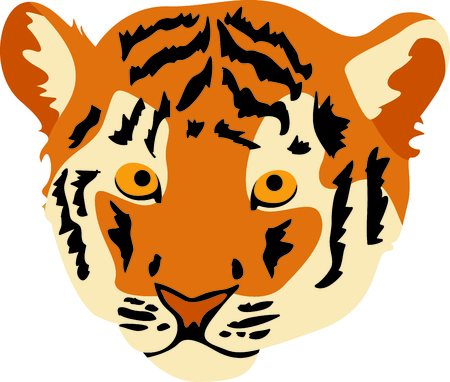 bengal cat: Show your team spirit with this tiger  Illustration