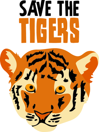 siberian tiger: Show your team spirit with this tiger Illustration