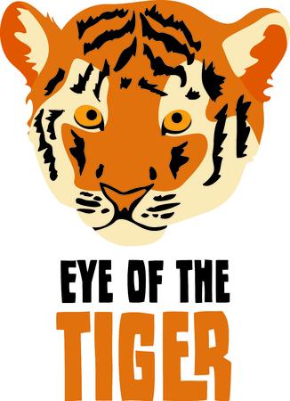 Show your team spirit with this tiger  Ilustração