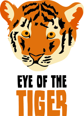 Show your team spirit with this tiger  Illustration