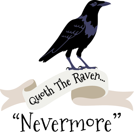To quote the Raven, nevermore.  The perfect fall design.