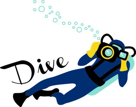 oceanography: L'immagine perfetta per un regalo di un subacqueo. Essi amano il vostro disegno.