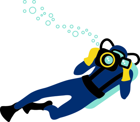 wet suit: The perfect image for a gift to a diver.  They will love your design.