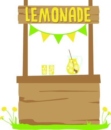 Kinderen genieten van vers gemaakte limonade op een hete zomermiddag. Deze zijn perfect om te gaan op een picknick of te gebruiken wanneer je kinderen een limonade stand draaien. Iedereen zal van hen houden! Stock Illustratie