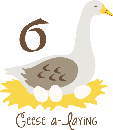 A favorite holiday song, The tweleve Days of Christmas. The sixth day, six geese a laying.