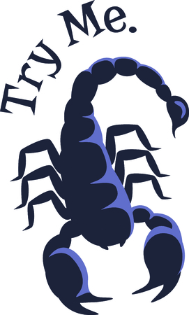 frightful: Our frightful scorpion is a perfect embellishment for both Western themed or zodiac themed projects.