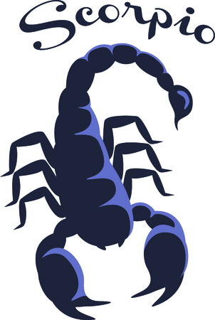 Our frightful scorpion is a perfect embellishment for both Western themed or zodiac themed projects.  He stitches in a snap for a lovely finished product. Illustration