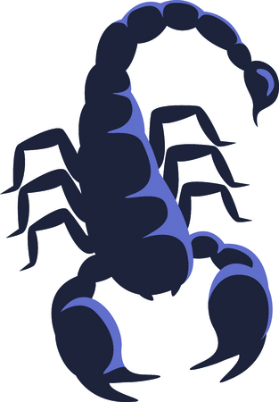 stinger: Our frightful scorpion is a perfect embellishment for both Western themed or horoscope themed projects.  Illustration
