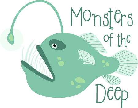 This monster of the deep is not your typical fish so it is just perfect for your aquatic themed project.  Try this and the entire set on your pool side dcor!