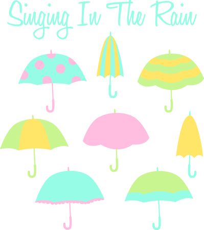 brolly: Hooray for rainy days!  Everyone likes to sing in the rain.  Have these ready for the next rainy day.  Everyone will love it! Illustration