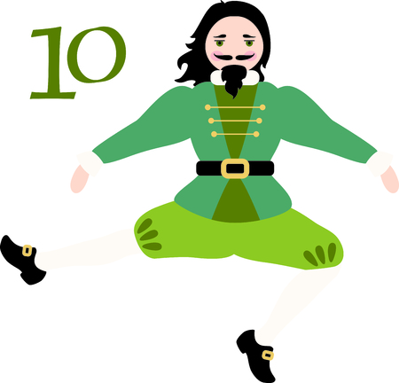 A favorite holiday song, The tweleve Days of Christmas. The tenth day, ten Lords a Leaping.