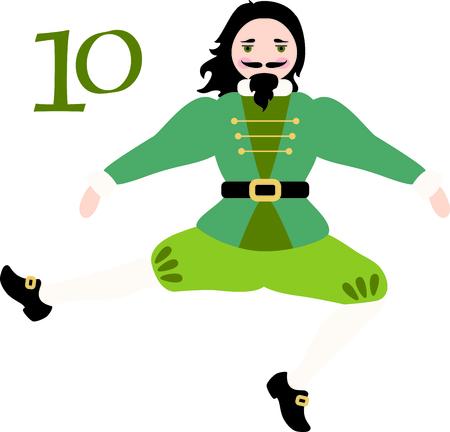 Een favoriete vakantiebestemming nummer, The tweleve Days of Christmas. De tiende dag, tien Lords a Leaping.