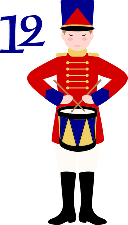 twelfth night: A favorite holiday song, The tweleve Days of Christmas. The twelfth day, 12 drummers drumming.